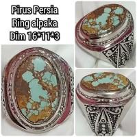 cincin batu akik pirus persia asli natural 16113