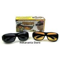 Kacamata HD Vision Anti Silau / 1 Box Isi 2 Pcs Siang Dan Malam
