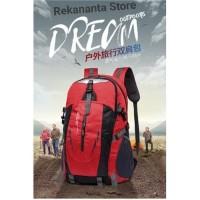 Tas Ransel Backpack Outdoor Pria Wanita Anti Air / Tas Hiking - Merah