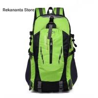 Tas Ransel Backpack Outdoor Pria Wanita Anti Air / Tas Hiking - Hijau