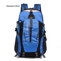 Tas Ransel Backpack Outdoor Pria Wanita Anti Air / Tas Hiking - Biru