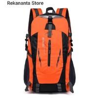 Tas Ransel Backpack Outdoor Pria Wanita Anti Air / Tas Hiking - Orange