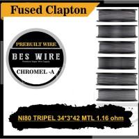 NI80 FUSED CLAPTON MTL TRIPEL 34*3+*42 AWG | 1.16 Ohm
