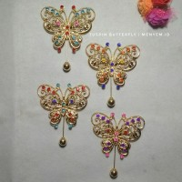 Tuspin butterfly gold bros hijab