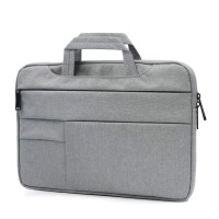 Tas Laptop 11 inch Macbook Softcase sleeve Pocket Handstrap-Grey