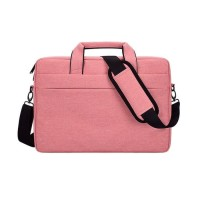 Tas Laptop 14 inch Softcase Sleeve Slempang Macbook waterproof - Pink