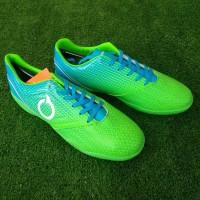 Ortuseight Genesis IN (Sepatu Futsal) - Fluo Green/Cyan/White