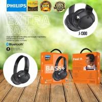 Headset Bando Philips Bluetooth J1300 BASS+ Earphone Wireless