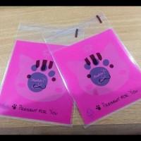 Terlaris!! Plastik Fancy Cookies - Kue - Permen - Accessories Pink Cat