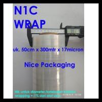 Terlaris!! Plastik Wrapping / Stretch Film Uk 50Cm X 300Mtr X 17Micron