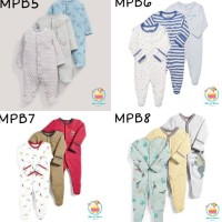 Original Mamaspapas Sleepsuit Set 3 In 1/ Baju Tidur Anak/Bayi