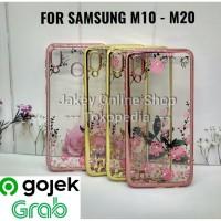TPU Flower case Samsung M10 - M20 softcase casing hp bunga ultra thin