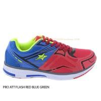 PRO ATT FLASH RED GREEN BLUE no 40 sepatu running wanita kets sneacker