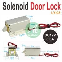 Solenoid Door Lock Kunci Pintu Electric LY-03 DC12V Solenoid OpXz12974