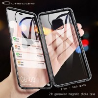 Q Magnetic Metal bumper Case for iPhone 5 6 7 8 Plus Double Sided
