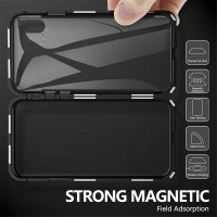 G Metal Magnetic Adsorption Glass Case For iphone XR X XS 7 8 Plus 6