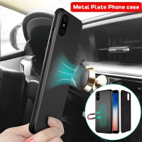 F Magnetic Car Holder Case For iPhone Xs Max Xr X 8 7 6 Plus 11 Pro