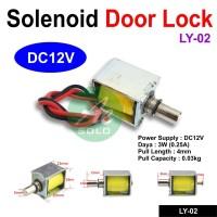 Solenoid Door Lock Kunci Pintu Electric LY-02 DC12V Solenoid OpXz15753
