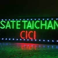 tulisan lampu led - led sign SATE TAICHA CICI OpXz16804