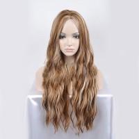 Wig / Rambut Palsu Panjang Berombak Tahan Panas U Wanita
