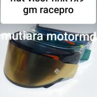 Paket flat visor nhk rx9 gm racepro flat visor+tear off + tear off pos