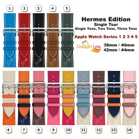 Strap Apple Watch Hermes Single Tour Leather iWatch Band