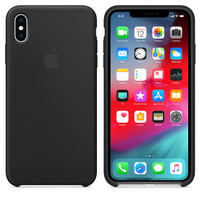 Apple Silicone Case iPhone X Xs Case iPhone Xs Max Case iPhone Xr - Hitam, iPhone X Xs