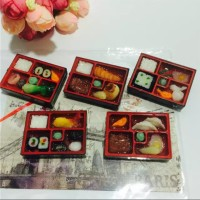 Tempelan Magnet Kulkas Bentuk Replika Makanan Bento Jepang - Souvenir
