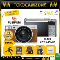 FUJIFILM X-A20 KIT 15-45MM / FUJI X-A20 /XA20 Brown Paket Spesial