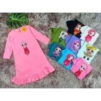 Gamis Anak Perempuan / Cewek LED Nyala Motif LOL Mybee Premium