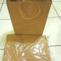 paperbag/paper bag/ kantong belanja polos uk. 20x24x8 cm