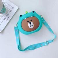 Tas Sling bag BONEKA 3D BEAR FULL BODY TIMBUL