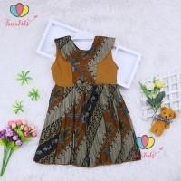 Dress Batik uk Bayi - 3 Tahun / Dres Model Baju Anak Perempuan Pesta