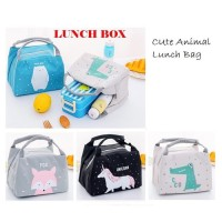 LB05 Lunch box Cute Animal Cooler bag / Tas Bekal Makanan / Cooler Bag