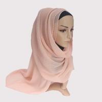 Terbaru Jilbab Muslim Scarf Fashion Wanita Katun Twill Lipit Diskon