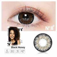 Ice N8 Black Honey normal minus hitam 16 mm - Softlens