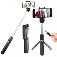 L01 Selfie Stick Tongsis With Bluetooth Tripod Standing