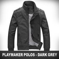 Jaket Playmaker Polos Dark Grey Promo Jaket WP Harrington Smith