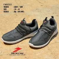 Sepatu Cowok Olahraga Original Sevenray Cortez Grey Running Casual