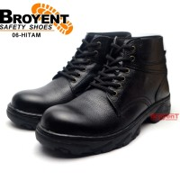 Sepatu Safety Pria Boots Tali Kulit Sapi High Quality 06