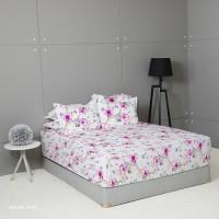 King Rabbit Set Sprei Single 120x200 cm Motif Ayumi Pink
