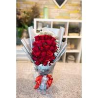 Buket Bunga Asli Fresh Hand Bouquet Rose Flower anniversary valentine