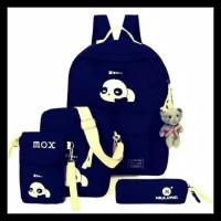 Terkomplit Tas Sekolah Anak Perempuan 4 In 1 Backpack Slingbag Pouch