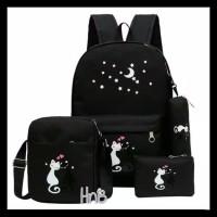 Best Seller Tas Sekolah Anak Perempuan 4 In 1 Backpack Slingbag Pouch