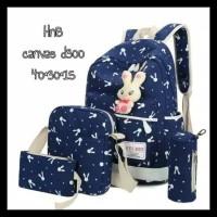 Murah Tas Sekolah Anak Perempuan 4 In 1 Backpack Slingbag Pouch Bunny