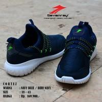 Sepatu Cowok Olahraga Original Sevenray Cortez Navy Running Casual