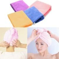 50gr Hair Wrap Magic Towel Handuk Topi Ajaib Bungkus Rambut Serap Air