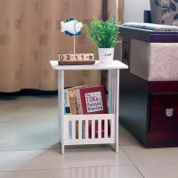 rak pojok ruangan / meja pojok / meja kecil /meja sudut / meja majalah