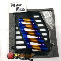 cover radiator scarlet NMAX AEROX155 2tone blue gold & blue silver