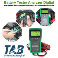 Battery Tester Analyzer Digital Mobil Alat Tester Aki Tes Aki